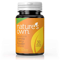 Natures Own Wholefood Cherry-C - Vitamin C -30 Vegicaps