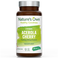 Natures Own Wholefood Acerola Cherry Powder - 60 Vegicaps