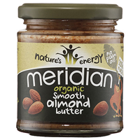 Meridian Organic Smooth Almond Butter - 170g - Best before date is 30th September 2018