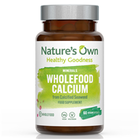 Natures Own Wholefood Calcium - 60 x 200mg Vegicaps