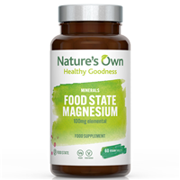 Natures Own Food State Magnesium - 60 x 100mg Tablets