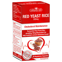 Natures Aid Red Yeast Rice - 30 Capsules