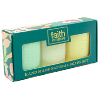 Faith in Nature Handmade Natural Soaps Gift Pack - 3 Pack