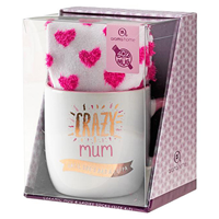 Aroma Home Sox in a Mug - Crazy Mum - Mug & Socks Set