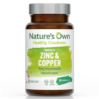 Natures Own Food State Zinc - With Copper - 50 Tablets