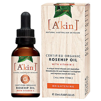 A kin Certified Organic Rosehip Oil with Vitamin C - 20ml