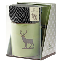Aroma Home Ceramic Mug & Men`s Socks - Stag