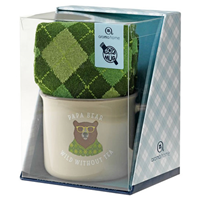 Aroma Home Ceramic Mug & Men`s Socks - Papa Bear