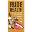 Rude Health Buckwheat & Black Bean Crackers - 120g - Best before date is 20th April 2018