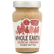Whole Earth Organic Crunchy Peanut Butter - 340g
