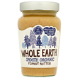 Whole Earth Organic Smooth Peanut Butter - 340g