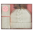 Aroma Home Cosy Hat & Hand Warmers - Cream