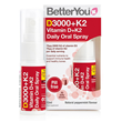 BetterYou DLux+ Daily Vitamin D + K2 Oral Spray - 12ml
