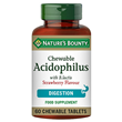 Nature`s Bounty Acidophilus - 60 Chewable Tablets - Best before date is 31st January 2019