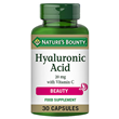 Nature`s Bounty Hyaluronic Acid - 30 x 20mg Capsules - Best before date is 30th June 2021
