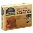 If You Care Paper Snack & Sandwich Bags - 48 Pack