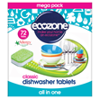 Ecozone Classic All in One Dishwasher Tablets - 72 Tablets