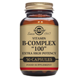 "Vitamin B-Complex ""100"" Extra High Potency - 50 Vegicaps"