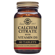 Solgar Calcium Citrate with Vitamin D3 - 60 Tablets - Best before date is 31st December 2019