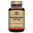 Solgar Resveratrol with Red Wine Extract - 30 x 250mg Softgels