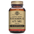 Solgar Vitamin E 671mg - 50 x 1000iu Softgels