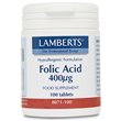 LAMBERTS Folic Acid 400mcg - 100 tablets