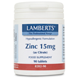 LAMBERTS Zinc (as Citrate) 90 x 15mg Tablets