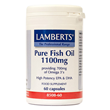 LAMBERTS Pure Fish Oil - 60 x 1100mg Capsules