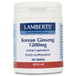 LAMBERTS Korean Ginseng 1200mg - 60 Tablets