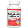 Natures Aid Multi-Vitamins & Minerals - No Iron - 60 Tablets