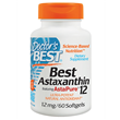 Best Astaxanthin - AstaPure - 60 x 12mg Softgels