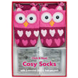 Aroma Home Knitted Pink Owl Socks