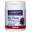 LAMBERTS Milk Thistle Extract - 60 x 3000mg Tablets