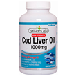 Natures Aid Cod Liver Oil - 180 x 1000mg Softgels