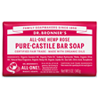 Dr Bronner`s Rose Castile Soap Bar 140g