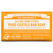 Dr Bronner`s Citrus Orange Castile Soap Bar - 140g