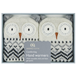 Aroma Home Sparkly Knitted Snow Owl Hand Warmers