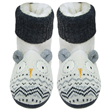 Aroma Home Sparkly Knitted Snow Owl Slipper Boots