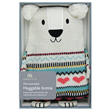 Aroma Home Sparkly Knitted Polar Bear Hottie