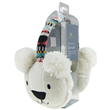 Aroma Home Sparkly Knitted Polar Bear Ear Muffs with Heat Pads