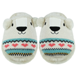 Aroma Home Sparkly Knitted Polar Bear Slippers