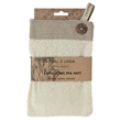 Sisal and Linen Exfoliating Button Mitt