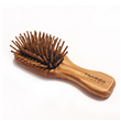 Olive Wood Travel Hair Brush with Anti-Static Pins