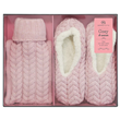 Aroma Home Mini Hot Water Bottle & Slippers - Pink