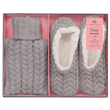 Aroma Home Mini Hot Water Bottle & Slippers - Grey