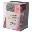 Aroma Home Ceramic Mug & Cosy Socks - Grey