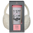 Aroma Home Travel Mug & Earmuffs - Cream