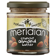 Meridian Crunchy Almond Butter - 170g - Best before date is 30th April 2019